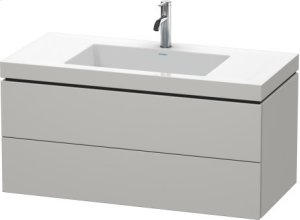 Furniture Washbasin C-bonded With Vanity Wall-mounted, Concrete Gray Matte (decor) Product Image
