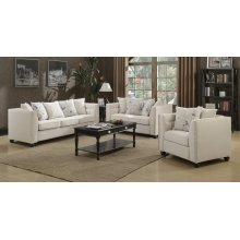 Winslow Beige Fabric Loveseat
