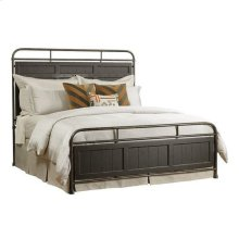 Mill House Folsom King Metal Bed - Complete - Anvil Finish