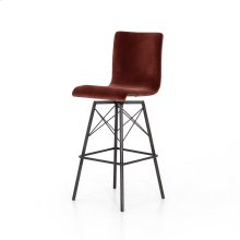 Bar Stool Size Merlot Velvet Cover Diaw Bar + Counter Stool