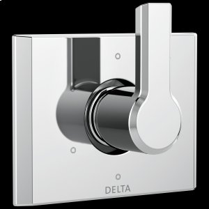 Chrome 6-Setting 3-Port Diverter Trim Product Image