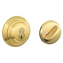 Double Cylinder Mechanical Deadbolt - Bright Brass