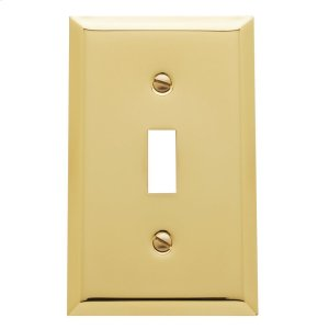 Polished Brass Beveled Edge Single Toggle Product Image