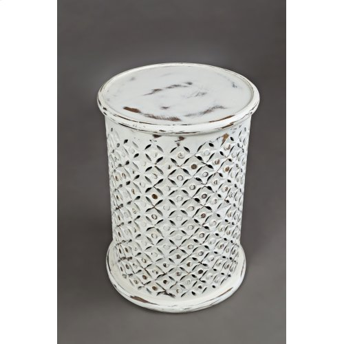 Global Archive Drum Table - Antique White