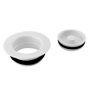 White Garbage Disposer Flange & Stopper Set Product Image