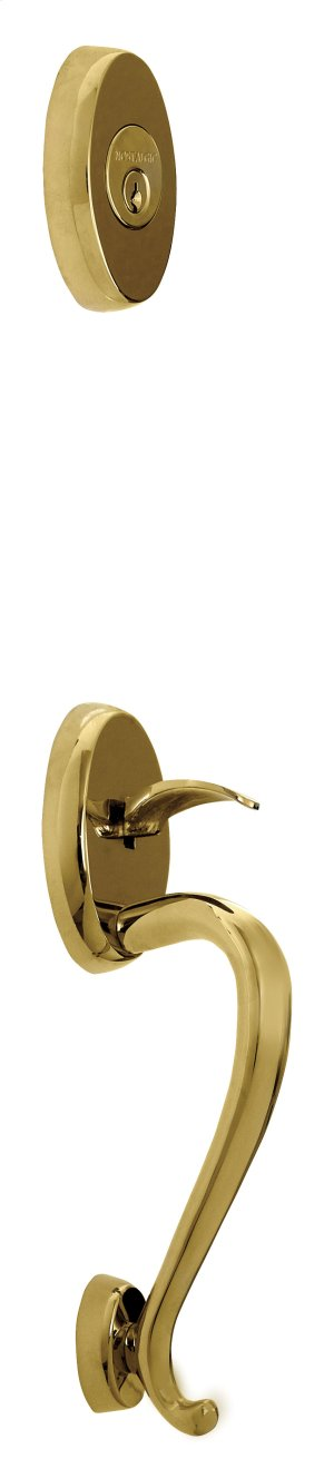 Nostalgic - Handleset Exterior Half - Oxford Park with S-Grip in Lifetime Brass Product Image