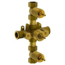 """3/4"""" Thermostatic Valve With Two Controls and Integral Stops"""