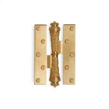 Antique Gold Acanthus Paumelle Hinge
