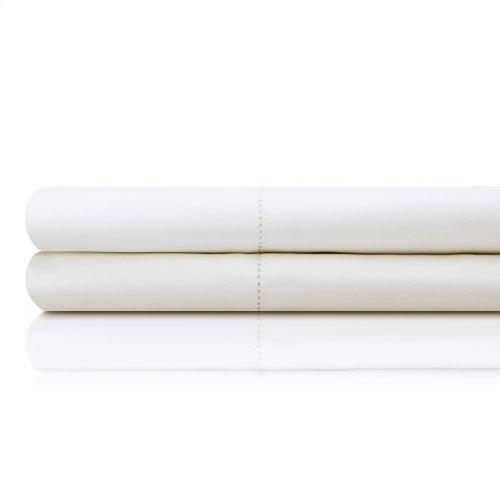 Italian Artisan Sheet Set Queen Pillowcase Ivory