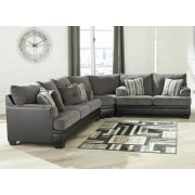 Millingar - Smoke 3 Piece Sectional Product Image