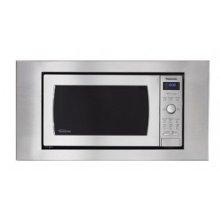 One-piece stainless steel microwave trim kit