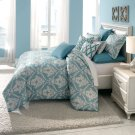 9pc Queen Comforter set Turquoise Product Image