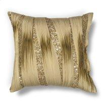 """L181 Gold Ruffles Pillow 18"""" X 18"""""""