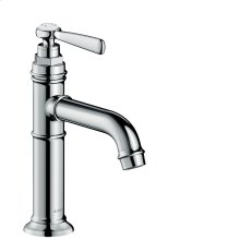 Chrome Single lever basin mixer 100 with lever handle and waste set