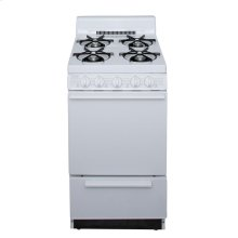 20 in. Freestanding Battery-Generated Spark Ignition Gas Range in White