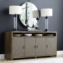 Western Brown Compass Entertainment Console