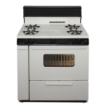 36 in. Freestanding Gas Range in Biscuit