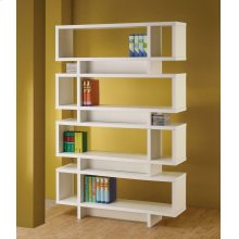 Contemporary White Bookcase
