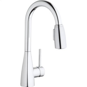 Elkay Avado Single Hole Bar Faucet with Pull-down Spray and Forward Only Lever Handle Chrome Product Image
