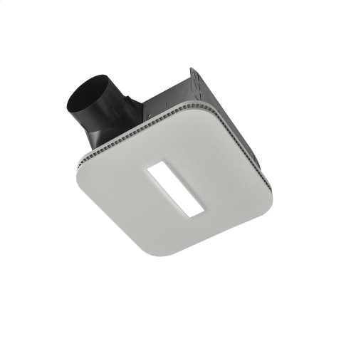 Flex Series 80 CFM Ceiling Bathroom Exhaust Fan with CleanCover grille and LED Light, ENERGY STAR® certified
