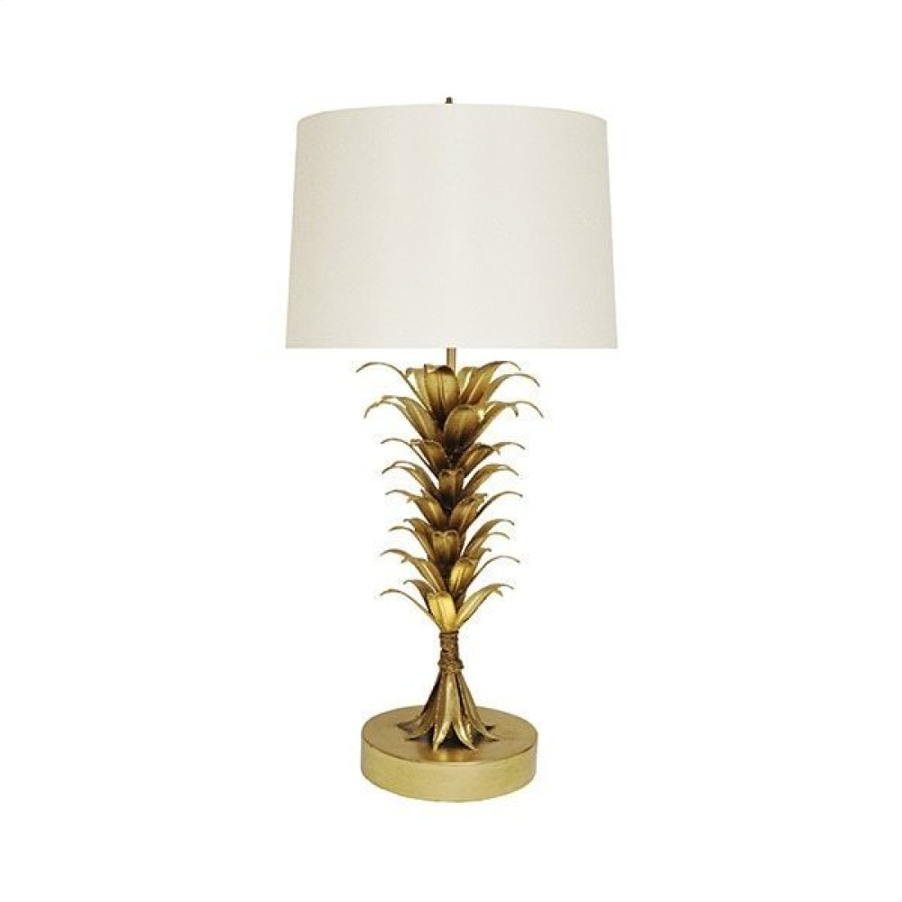 Palm Leaf Table Lamp In Gold Leaf