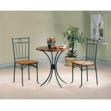 Casual Honey and Black Three-piece Set
