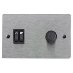 Optional Wall Control in Stainless