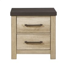 Barnwood 2 Drawer USB Charging Nightstand