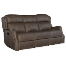 Living Room Sawyer Power Recliner Sofa w/ Power Headrest