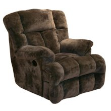 Chocolate 6541-2 Cloud 12 Chaise Rocker Recliner