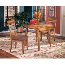 Berringer - Rustic Brown Drop-Leaf Table and 2 Chairs