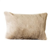 Goat Fur Bolster Light Grey