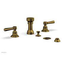 HEX TRADITIONAL Four Hole Bidet Set 500-61 - French Brass