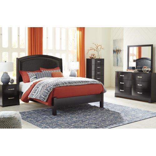 Minota - Merlot 2 Piece Bedroom Set
