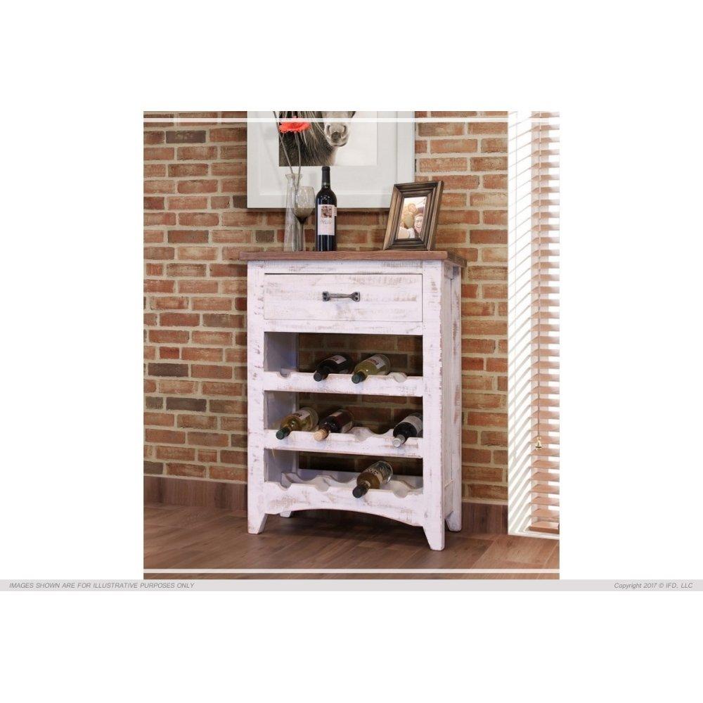 1 Drawer, 3 Bottle holder fixed shelves