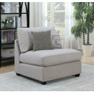 Charlotte Transitional Grey Armless Chair Product Image