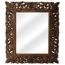 The beautifully carved mirror will add character and life to the otherwise simple room with the dramatic frame and perfect shape of this mirror. This wall mirror is elegant in its appearance and will surely complement the other furniture items present in