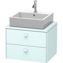 Brioso Vanity Unit For Console Compact, Light Blue Matte (decor)