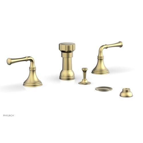 3RING Four Hole Bidet Set D4205 - Burnished Gold