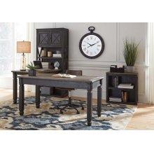 Tyler Creek - Grayish Brown/Black 3 Piece Home Office Set