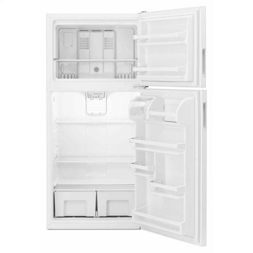 30-inch Amana® Top-Freezer Refrigerator with Glass Shelves - White