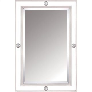 Downtown Mirror in Brushed Nickel