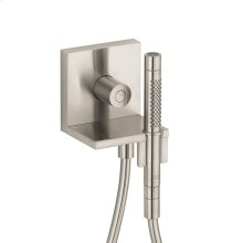 Brushed Nickel Hand shower module 120/120 for concealed installation square