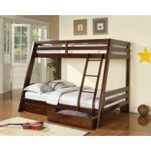 Hawkins Cappuccino Twin Over Full Bunk Bed
