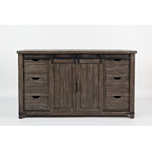 "Madison County 60"" Barn Door Console - Barnwood"