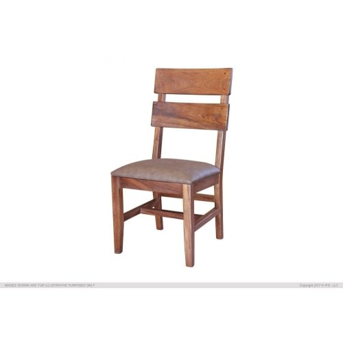 Chair with Faux Leather seat