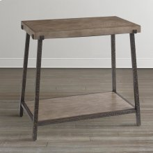 Northern Grey Compass Chairside Table