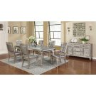 Danette Metallic Seven-piece Dining Set Product Image