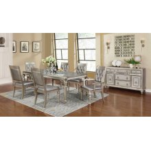 Danette Metallic Seven-piece Dining Set