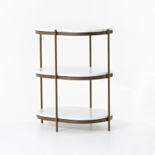 Antique Brass Finish Felix Oval Nightstand